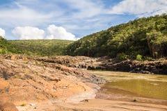 Encontro das Aguas in Chapada-Dos Veadeiros Stock Foto's
