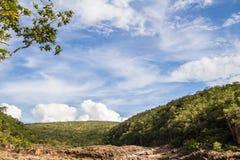 Encontro das Aguas in Chapada-Dos Veadeiros Stock Afbeeldingen