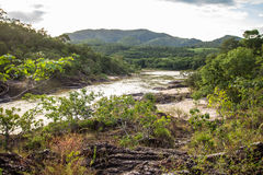 Encontro das Aguas w Chapada dos Veadeiros Obrazy Royalty Free