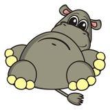 Encontro engraçado do hipopótamo Foto de Stock