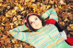 Encontro na floresta do outono Imagem de Stock Royalty Free
