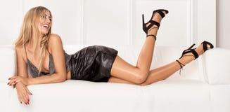 Encontro 'sexy' da senhora, relaxando imagem de stock royalty free
