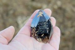 Encontrou recentemente o quartzo fumarento de alta qualidade Fotografia de Stock