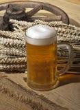 Encore-durée avec de la bière Image libre de droits