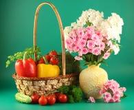 Encore-durée avec des légumes Images stock