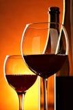 Encore-durée avec le vin rouge photo libre de droits