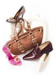 Encore-durée moderne avec les chaussures et le sac Image libre de droits