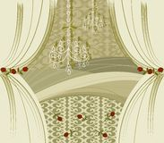 Encore gold curtains Royalty Free Stock Image