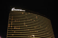 Encore Hotel at Night Royalty Free Stock Photo