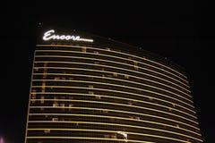 Encore Hotel at Night Royalty Free Stock Photo