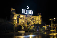 Encounter building at Oktoberfest in Munich, Germany, 2015 Royalty Free Stock Photography