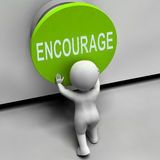 Encourage Button Means Inspire Motivate Royalty Free Stock Photography