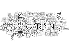 Encourage Predators In Your Garden Text Background  Word Cloud Concept Royalty Free Stock Photo