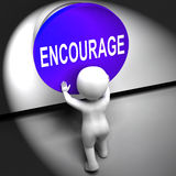 Encourage Pressed Means Inspire Motivate And Energize Royalty Free Stock Photos