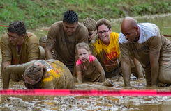 encouragement de 21th †annuel de Marine Mud Run «  Photographie stock libre de droits