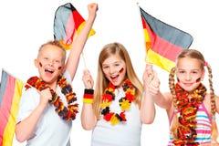 Encourager allemand de ventilateurs de football Images stock