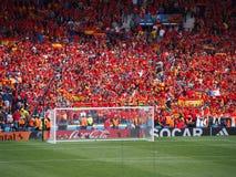 Encourager espagnol de fans Images libres de droits