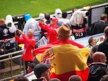Encourager espagnol de fans Images stock