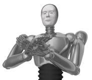 Encourager le robot. illustration de vecteur