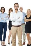 Encourager réussi d'équipe d'affaires Image stock