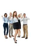 Encourager réussi d'équipe d'affaires Photo stock