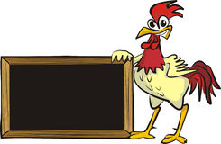 Encourages cock - blank board Stock Photo