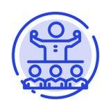Encouragez, croissance, mentor, Mentorship, icône de Team Blue Dotted Line Line illustration stock