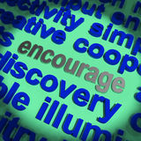Encouragez l'inspiration de motivation de moyens de Word illustration stock