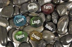 Encouraging Rocks Stock Photo