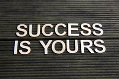 Encouraging words. That says success is yours Royalty Free Stock Photography