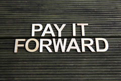 Encouraging words. That says to pay it forward Royalty Free Stock Photography