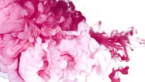 Encre blanche et rose dans l'eau Images libres de droits