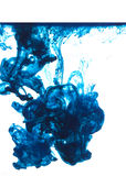 Encre bleue Photographie stock