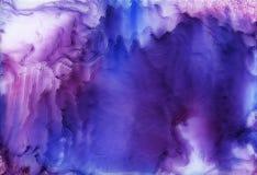 Encre d'alcool, acrylique, fond abstrait color? d'aquarelle photos stock