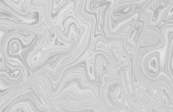 Encre de marbre colorée Modèle de marbre multicolore du mélange des courbes illustration libre de droits