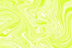 Encre de marbre colorée Modèle de marbre vert du mélange des courbes illustration libre de droits