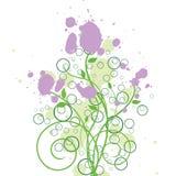 encre grunge florale de conception Photo libre de droits
