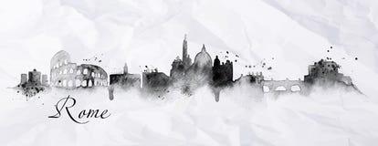 Encre Rome de silhouette illustration de vecteur