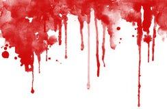 Encre rouge laissée tomber Photos libres de droits