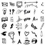 Encre universelle eps10 de handrawn de croquis Image libre de droits