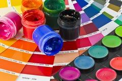 Encres colorées Photos stock