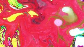 Encrez la texture liquide de fond de mouvement de peinture psychédélique abstraite banque de vidéos