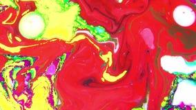 Encrez la texture liquide de fond de mouvement de peinture psychédélique abstraite clips vidéos