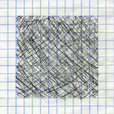 Encrez le cadre de backgorund texturisé par stylo sur le papier de maths Photos libres de droits