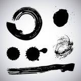Encrez le pinceau créatif sale d'élément de texture grunge différente d'art de course de brosse Images stock
