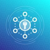 Encripción, icono seguro del vector del acceso stock de ilustración