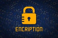 Encription fort de mot de passe protection des données d'entailler Sécurité de Cyber Cryptage des données Protégez l'information  Image stock