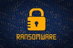 Encription Ransomware защита данных от рубить Безопасность кибер Кодирование данных Защитите информацию в сети и интернете Стоковое Изображение RF