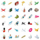 Encroachment icons set, isometric style. Encroachment icons set. Isometric set of 36 encroachment vector icons for web isolated on white background Royalty Free Stock Photos