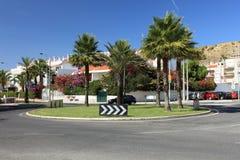 Encrucijada del círculo en Lisboa. Fotografía de archivo